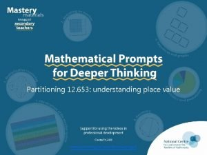 Partitioning 12 653 understanding place value www ncetm