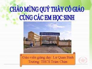 Gio vin ging dy L Quan Bnh Trng