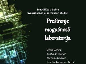 Sveuilite u Splitu Sveuilini odjel za strune studije