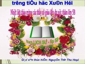 Gio vin thc hin Nguyn Th Thu Hoi