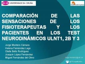 COMPARACIN DE LAS SENSACIONES DE LOS FISIOTERAPEUTAS Y