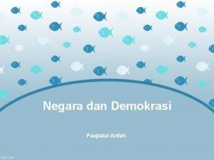 Negara dan Demokrasi Paujiatul Arifah Teori Terbentuknya Negara