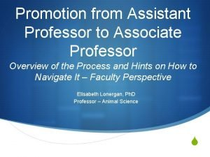 Promotion from Assistant Professor to Associate Professor Overview