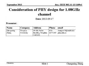 September 2013 doc IEEE 802 11 131109 r