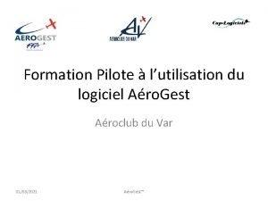 Formation Pilote lutilisation du logiciel Aro Gest Aroclub