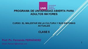 PROGRAMA DE UNIVERSIDAD ABIERTA PARA ADULTOS MAYORES CURSO
