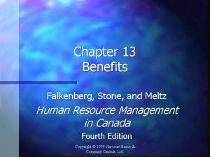 Chapter 13 Benefits Falkenberg Stone and Meltz Human