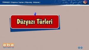 TRKE Dnce Yazlar Rportaj Mlakat 1 TRKE Dnce