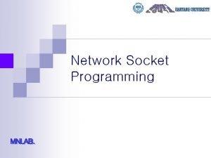 Network Socket Programming Contents n SOCKET API n