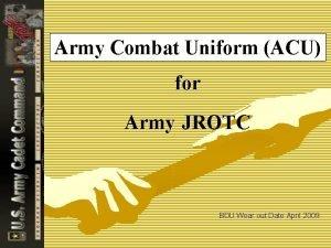 Army Combat Uniform ACU for Army JROTC BDU