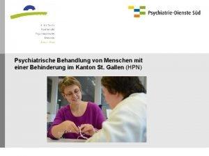 Psychiatrische Behandlung von Menschen mit einer Behinderung im
