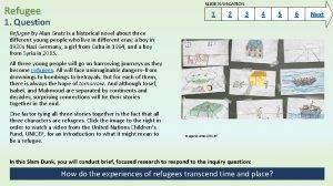 SLIDE NAVIGATION Refugee 1 1 Question 2 3