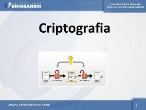 Escola de Cincia e Tecnologia Curso Sistema Operacionais