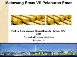 Matawang Emas VS Pelaburan Emas Seminar Pelaburan Emas