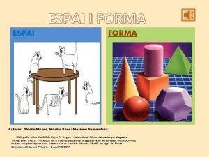 ESPAI I FORMA ESPAI FORMA Autores Noem Munn
