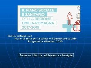 Distretto di Rimini Nord Piano di zona per