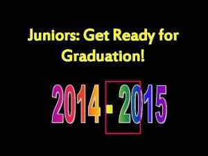 Juniors Get Ready for Graduation Graduation Requirements 22
