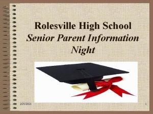 Rolesville High School Senior Parent Information Night 2252021