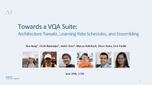 Towards a VQA Suite Architecture Tweaks Learning Rate