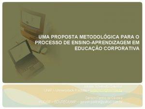 UMA PROPOSTA METODOLGICA PARA O PROCESSO DE ENSINOAPRENDIZAGEM