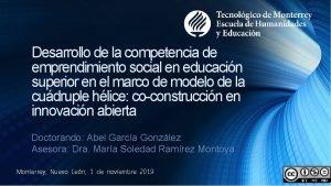 Desarrollo de la competencia de emprendimiento social en