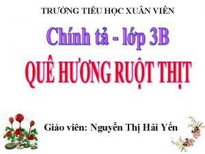 TRNG TIU HC XU N VIN Gio vin