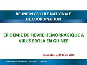 REUNION CELLULE NATIONALE DE COORDINATION EPIDEMIE DE FIEVRE