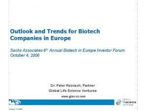 Outlook and Trends for Biotech Companies in Europe