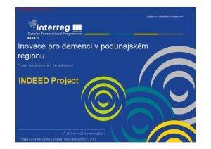 KONFERENCE LUT LIST INDEED Inovace pro demenci v