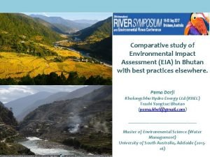 Comparative study of Environmental Impact Assessment EIA in