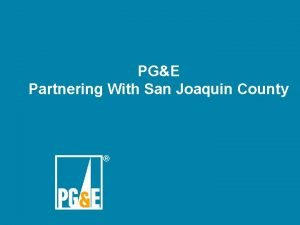 PGE Partnering With San Joaquin County Energy Summit