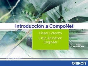 Introduccin a Compo Net Csar Lorenzo Field Aplication