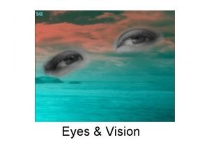 Eyes Vision Outermost layer of the Eye Cornea
