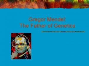 Gregor Mendel The Father of Genetics Mendels Studies