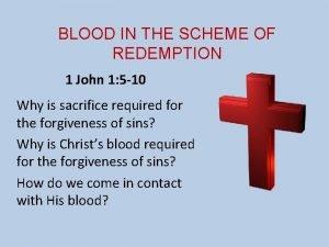 BLOOD IN THE SCHEME OF REDEMPTION 1 John