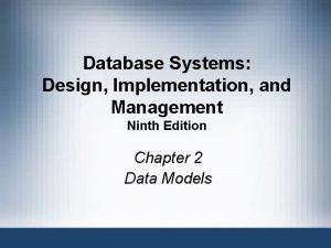 Database Systems Design Implementation and Management Ninth Edition