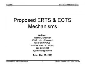 May 2001 doc IEEE 802 11 01157 r