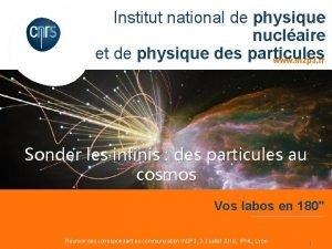 Institut national de physique nuclaire et de physique