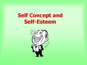 Self Concept and SelfEsteem WHY study SELFCONCEPT SELFESTEEM