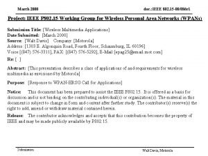 March 2000 doc IEEE 802 15 00086 r