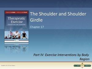 The Shoulder and Shoulder Girdle Chapter 17 Part