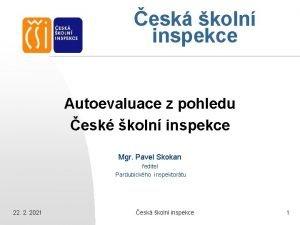 esk koln inspekce Autoevaluace z pohledu esk koln
