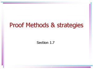 Proof Methods strategies Section 1 7 Proof by