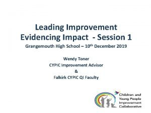 Leading Improvement Evidencing Impact Session 1 Grangemouth High