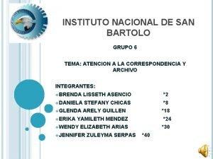 INSTITUTO NACIONAL DE SAN BARTOLO GRUPO 6 TEMA