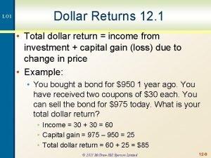 LO 1 Dollar Returns 12 1 Total dollar
