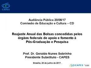Audincia Pblica 200617 Comisso de Educao e Cultura