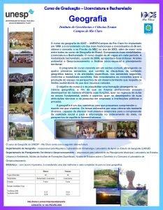 Curso de Graduao Licenciatura e Bacharelado Geografia Instituto