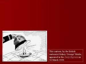This cartoon by the British cartoonist Sidney George
