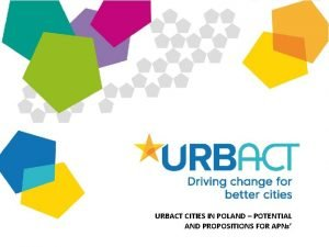 URBACT CITIES IN POLAND POTENTIAL AND PROPOSITIONS FOR